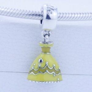 Jewelry - Belle Beauty & Beast Dress Silver Slider Charm